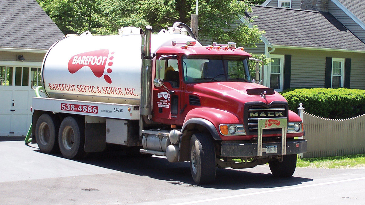Barefoot Septic & Sewer Truck